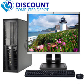 "HP RP5700 Desktop Computer Core 2 Duo 2.6GHz 4GB 160GB DVD WiFi 17"" LCD Windows 10"