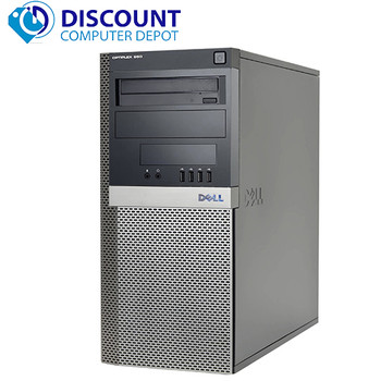 Dell Optiplex 960 Desktop Computer Tower Windows 10 Pro 3GHz Core 2 Duo 8GB 1TB