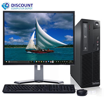 "Fast Lenovo Core i5 Desktop Computer Windows 10 PC 3.1ghz 4gb 320gb 19"" LCD Wifi"