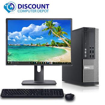 "Dell Optiplex Desktop Computer PC Quad Core i5 4GB 1TB Windows 10 w/19"" LCD"