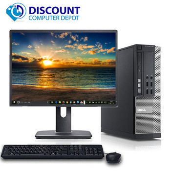 "Dell Optiplex Desktop Computer PC Quad Core i5 4GB 160GB Windows 10 w/19"" LCD"
