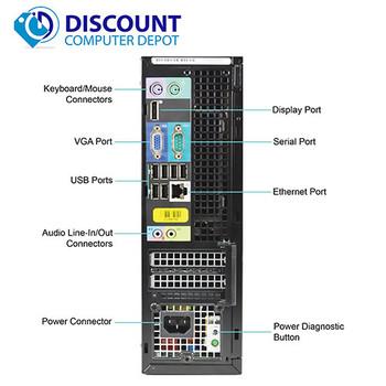 Dell Optiplex 790 Desktop Computer PC i3-2100 3.1GHz 8GB 1TB Win 10 Home WiFi