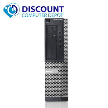 "Fast Dell Optiplex 390 Windows 10 Home Desktop Computer Core i5 3.1GHz 4GB 500GB Dual 19"" LCD"