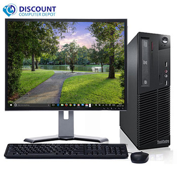 "Lenovo M92 Windows 10 Home Desktop Computer PC Intel Core i5-3570 3.2GHz 4GB 500GB with a 19"" LCD"
