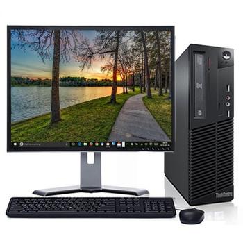 "Lenovo M92 Windows 10 Home Desktop Computer PC Intel Core i5-3570 3.2GHz 4GB 160GB with a 17"" LCD"