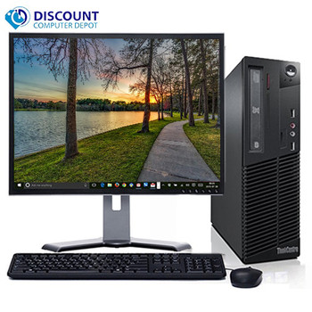 "Lenovo M92 Windows 10 Home Desktop Computer PC Intel Core i5 3.2GHz 4GB 160GB with a 17"" LCD"