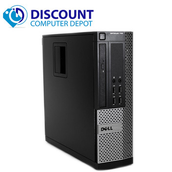 "Dell Desktop Computer Quad i5 3.1GHz Win10 Pro w/ Dual 2x19"" Monitors 4GB 250GB"