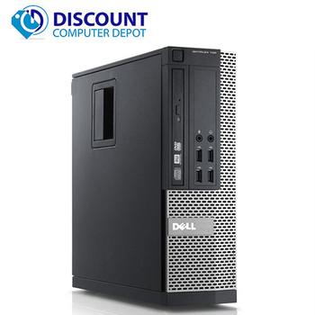 """Dell Optiplex Desktop Computer PC Quad Core i5 4GB 1TB Windows 10 w/19"""" LCD Monitor"""