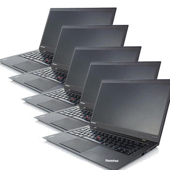 Lot of 5 Lenovo ThinkPad X1 Carbon Laptop Computers Intel i7-4600U 2.1GHz 8GB 256GB Windows 10 Pro