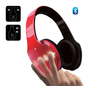 Side Swipe Wireless Touch Control HeadPhones with Built in MIC
