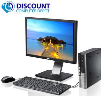 """Dell Optiplex 990 USFF Desktop PC Core i5 4GB 250GB Win10 Home WiFi W/19"""" LCD"""