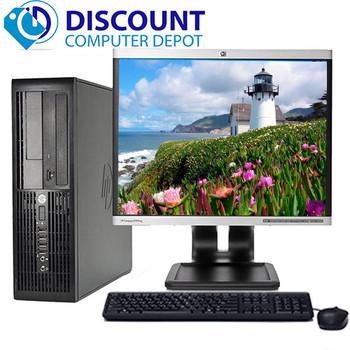"HP RP5700 Desktop Computer PC Core2Duo 2.6GHz 4GB 160GB DVD WiFi 17"" LCD Windows 10"