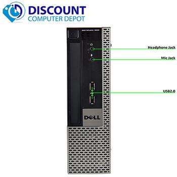 """Fast Dell Optiplex 990 USFF Desktop Quad i5 4GB 250GB Win10 Home WiFi W/22"""" LCD"""