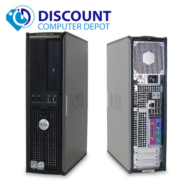 """Dell Optiplex Desktop Computer Windows 10 Core 2 Duo 4gb 1TB w/17"""" LCD"""
