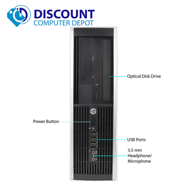 Fast HP Elite Desktop Computer PC C2D 3.0GHz 8GB 500GB DVDRW Windows 10 Pro