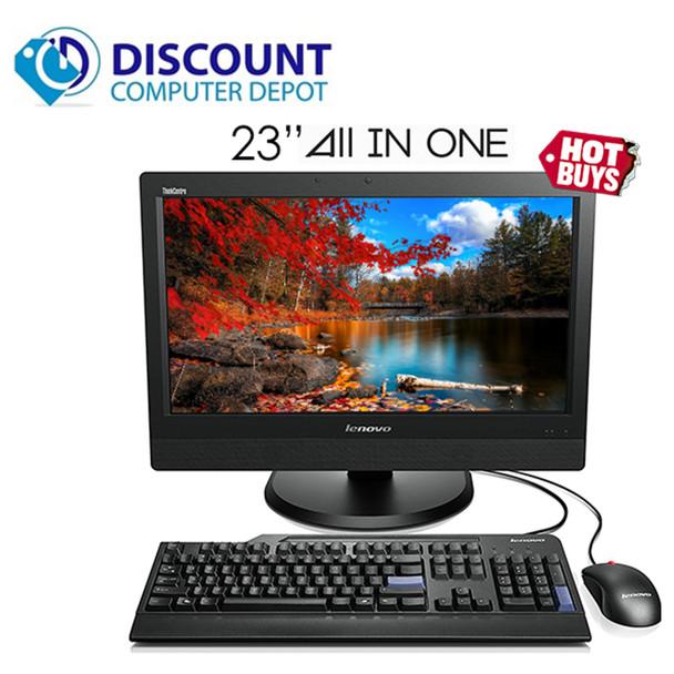 """Lenovo ThinkCentre M92z 23"""" AIO Computer Core i5-3570S 4GB 320GB Windows 10 Pro"""