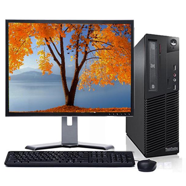 "Fast Lenovo ThinkCentre Desktop Computer PC 3.6GHz 4GB 160GB DVD Wifi 17"" LCD Windows 10 Home Premium"