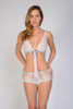 HONEYMOON KEYHOLE BOYSHORT WHITE W/ WHITE LACE