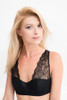 SILK WITH LEAVERS LACE LOLA BRA TOP SPARKLING FLOWERS