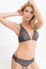 ALL LACE GLAMOUR HALTER BRA CHARCOAL