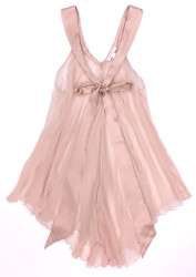 SILK WITH LEAVERS LACE LILA BABYDOLL SHEER PINK