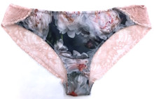 SILK WITH LEAVERS LACE ELOISE BRIEF PEACH BLOSSOM