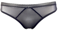 JET SET THONG BLACK