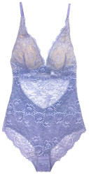 ALL LACE CLASSIC BODYSUIT PERIWINKLE