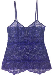 ALL LACE CLASSIC PYRAMID CAMI COBALT