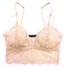 ALL LACE CLASSIC CROP TOP BRALETTE NUDE