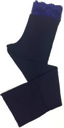HOME APPAREL LACE WAIST PANT DEEP BLUE W/ COBALT LACE