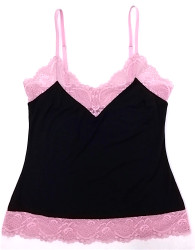 HOME APPAREL CAMISOLE DEEP BLUE W/ CANDY LACE
