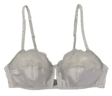 SILK WITH LEAVERS LACE PRINTED LEIA BRA ICE