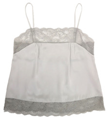 SILK WITH LEAVERS LACE PIA UNDERPINNING ICE
