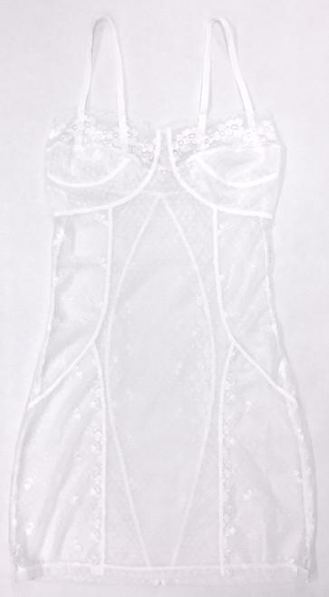 FILIGREE CORSET CHEMISE WHITE DIAMOND