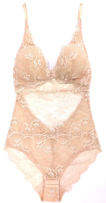 ALL LACE CLASSIC BODYSUIT NUDE