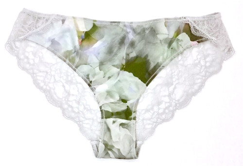 SILK WITH LEAVERS LACE ELOISE BRIEF GARDENIA