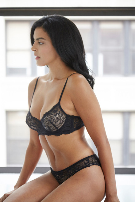 ALL LACE CLASSIC UNDERWIRE BRA JAVA