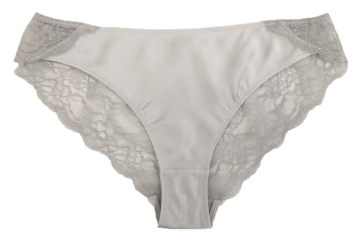 SILK WITH LEAVERS LACE ELOISE BRIEF ICE