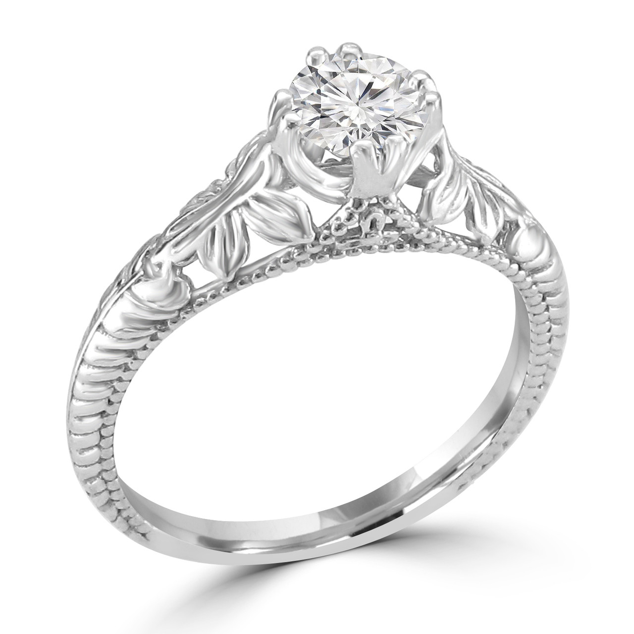 setting engagment gold bands ring danhov engagement in solitaire white greenwich