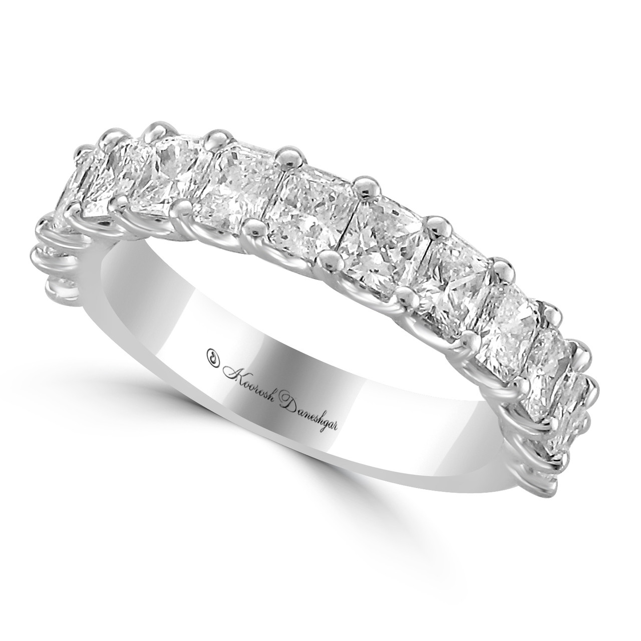 twist engagement ring cut in diamond with halo gold shank pave radiant ribbon rings white