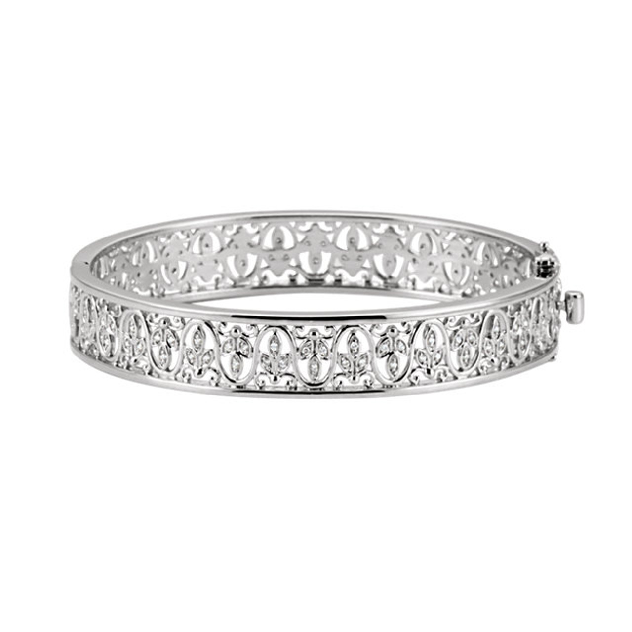 bangle in pave gold white bracelet diamond set bangles micro