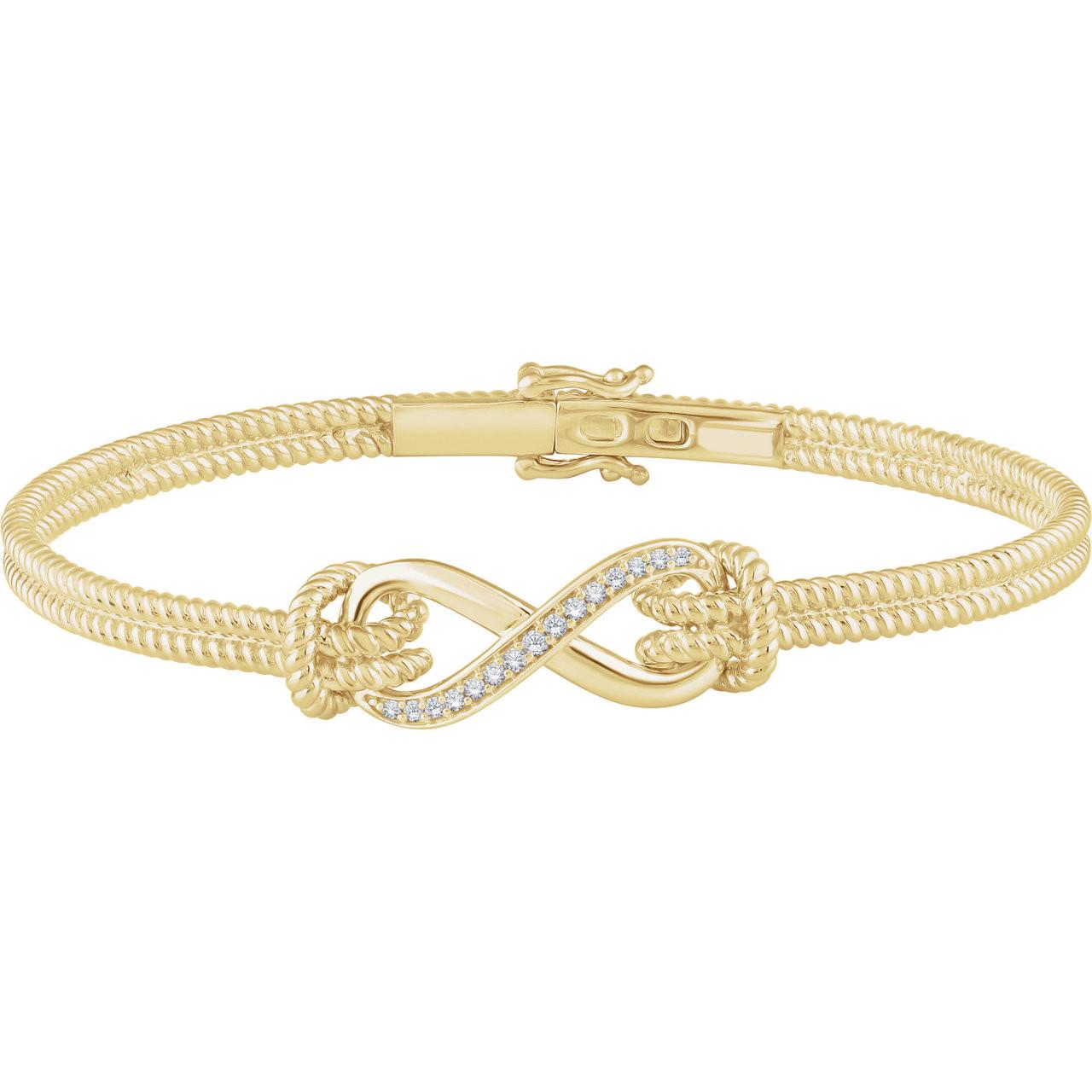 14kt Gold Infinity Symbol Rope Bracelet Wedding Bands Co