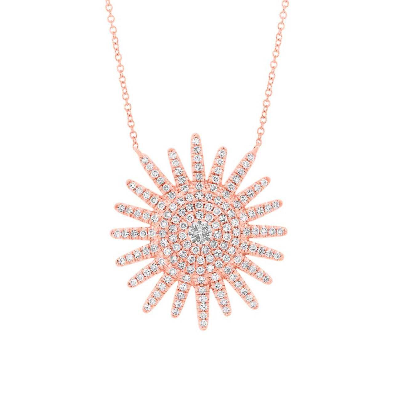 collections diamond products necklace sunburst