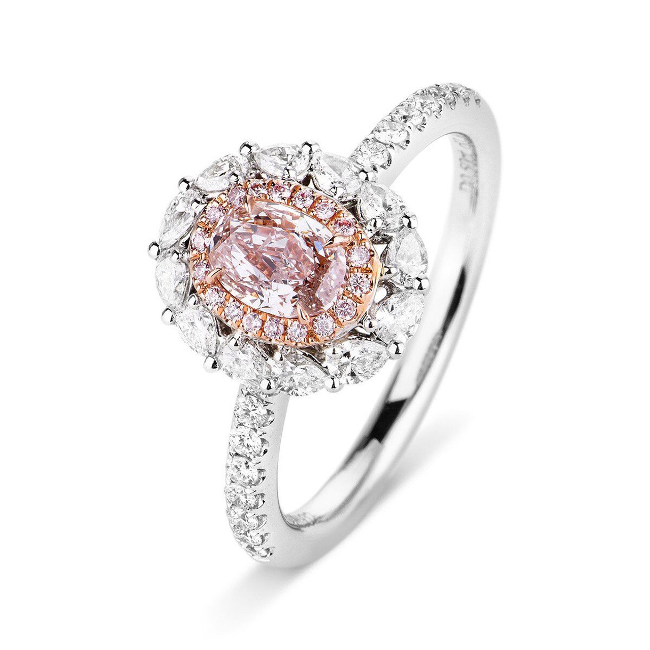 band ring gold cut pink engagement diamond boodles ashoka rings with jewellery harmony rose