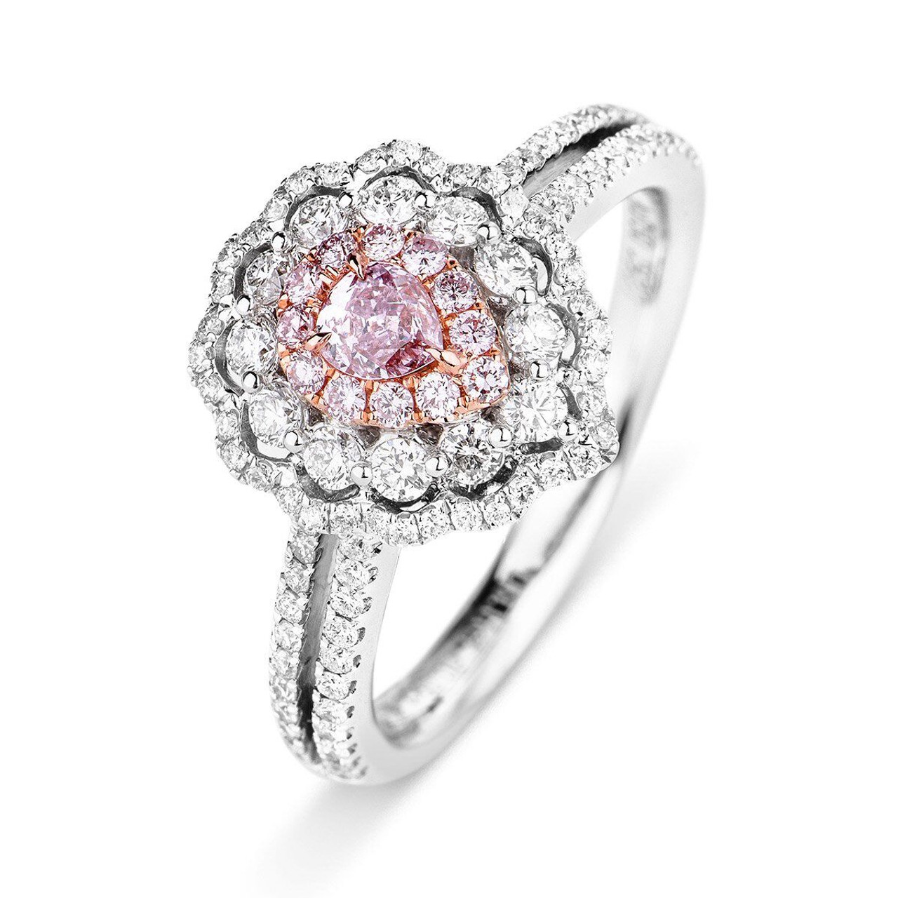 bands rings carat wedding rose bridal trio and with diamond gold black ring in set engagement sale morganite