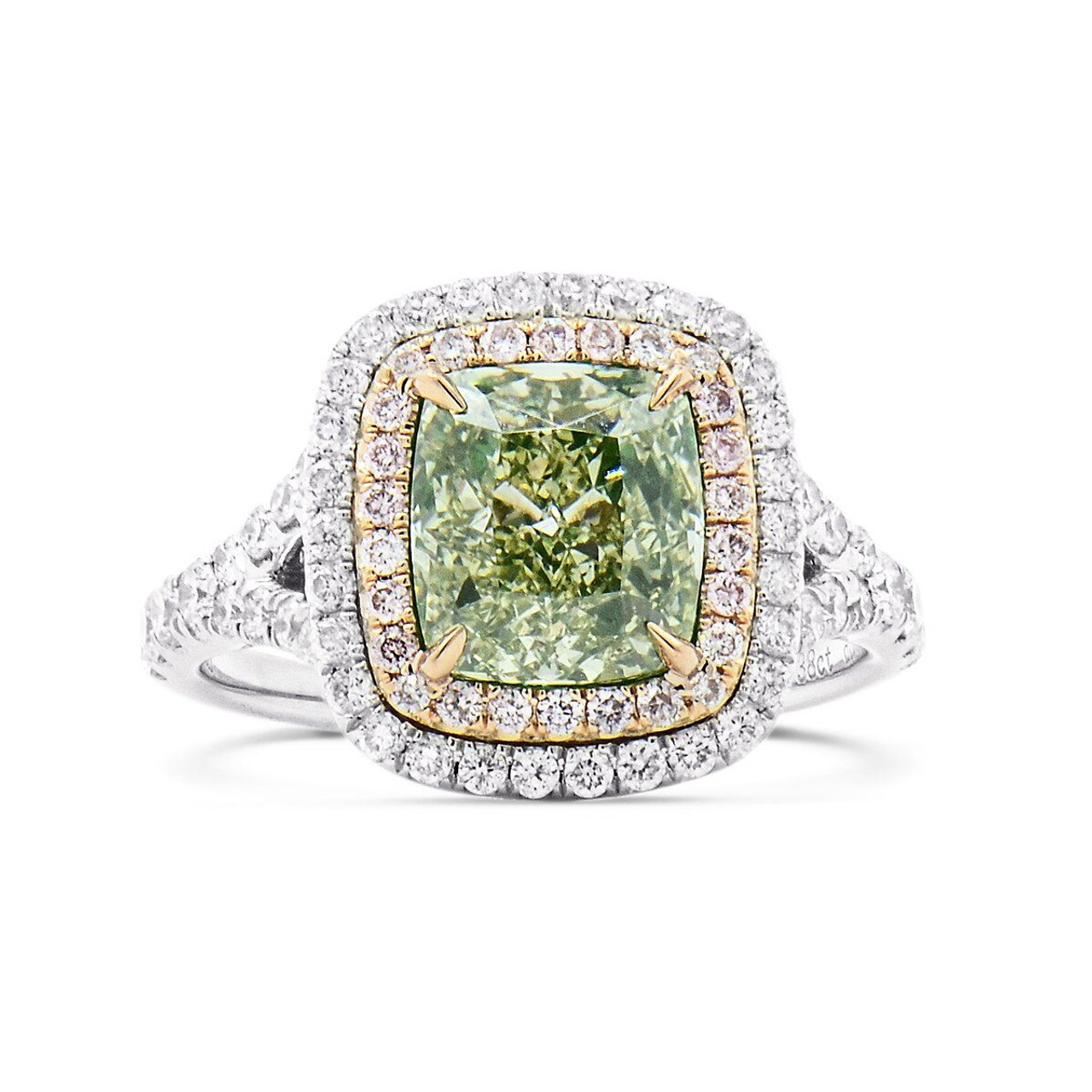 danabronfman products solitaire rose green rings dana ring cut wedding bronfman diamond