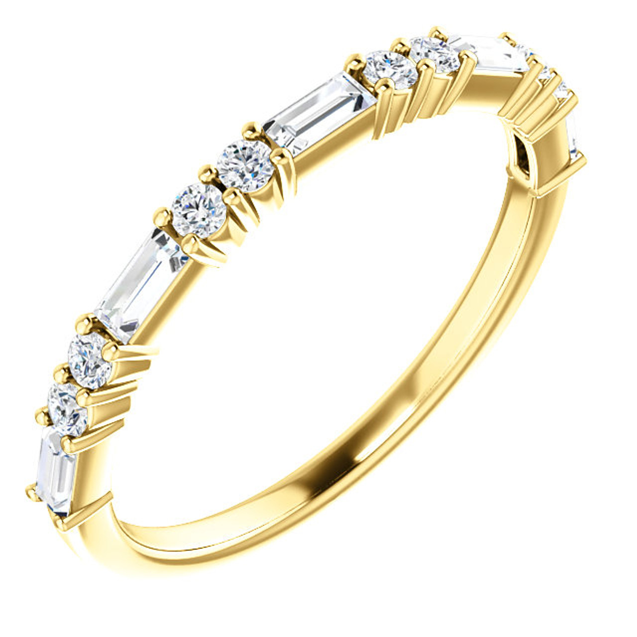cut bands ring yellow round mens gold p benchmark single with diamond