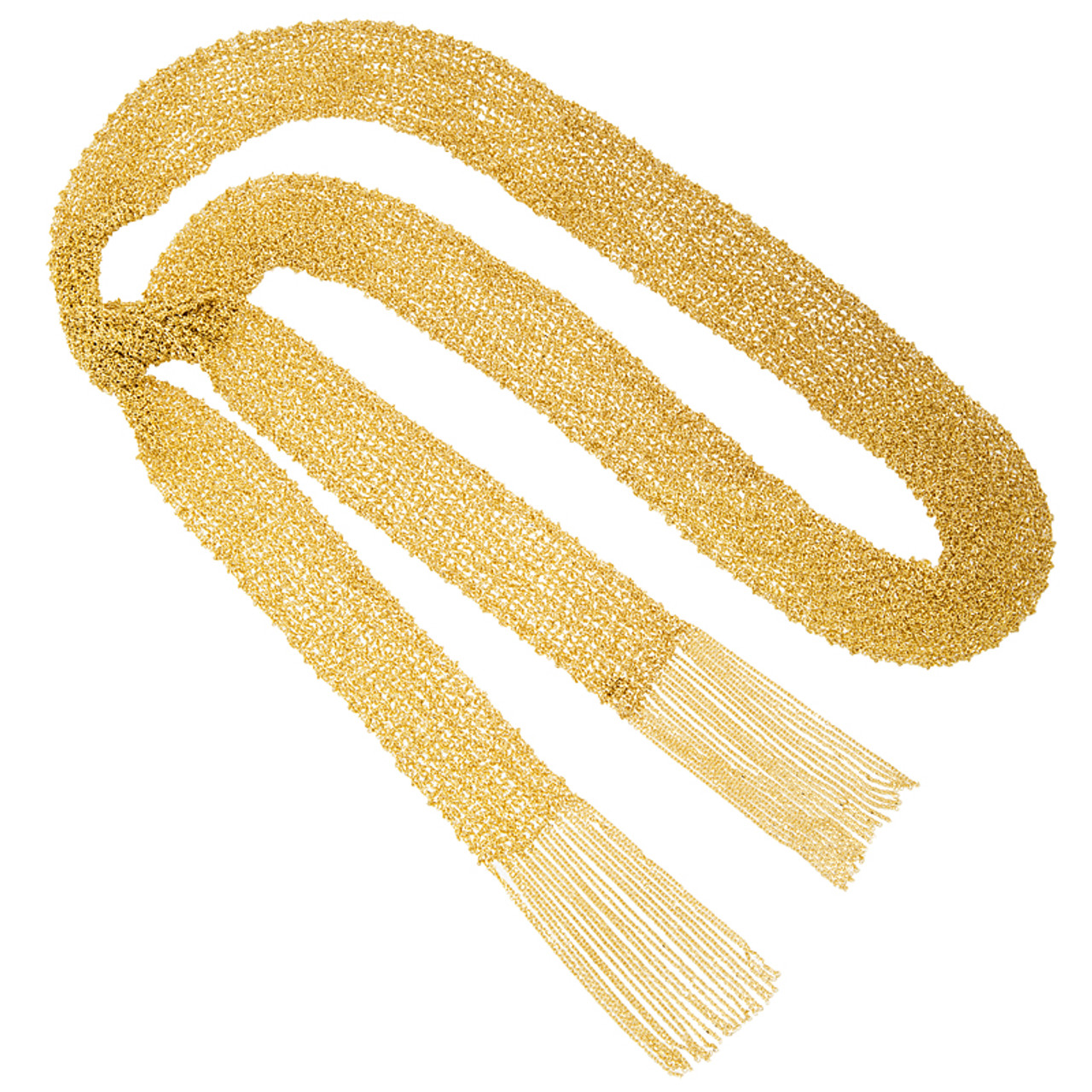 14kt Gold Mesh Scarf Necklace - Wedding Bands & Co.
