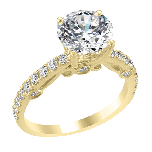 yellow gold engagement solitaire diamond custom hand rings ring jewellery